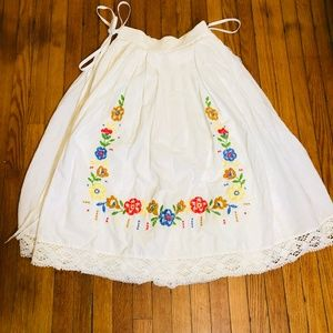 Vintage EGER Womens Skirt 6 8 White Wedding 3 Tier